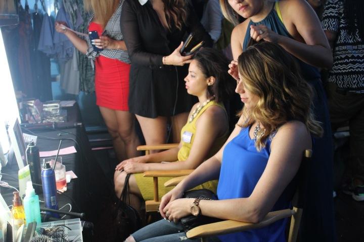 Virginia and Elena at the Beauty Bar