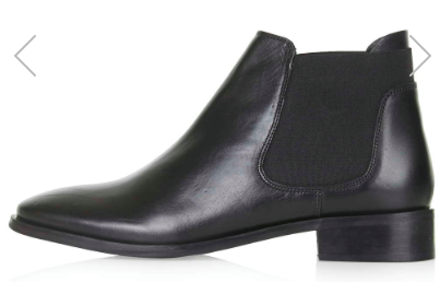 TOPSHOP BASING CHELSEA BOOTS Price: $65.00