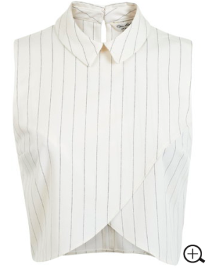 STRIPE COLLAR WRAP SHELL price: $44.00