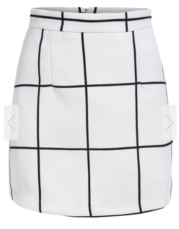 With Zipper Plaid Skirt Price $12.67