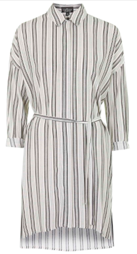 TALL STRIPED SHIRT DRESS Price: $80.00
